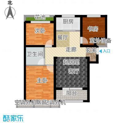 兰亭105.27㎡C4户型3室2厅