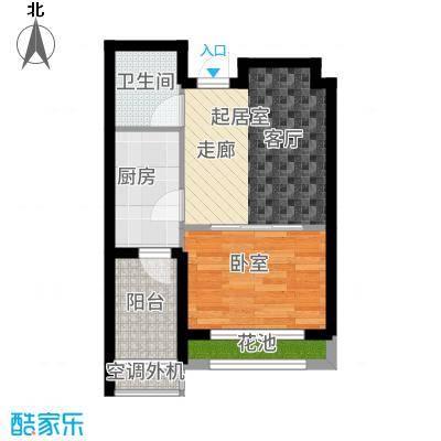 兰亭48.25㎡C2户型1室1厅