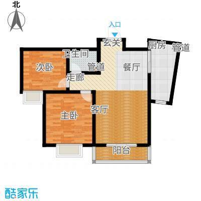 阳光·汾河湾85.32㎡户型2室2厅