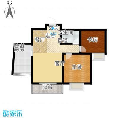 阳光·汾河湾88.08㎡两居户型2室2厅