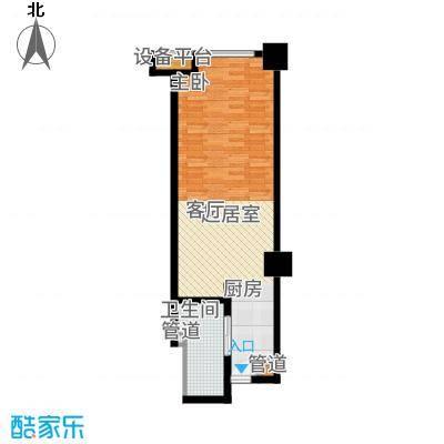 昌盛双喜城3公馆酒店公寓C户型1室