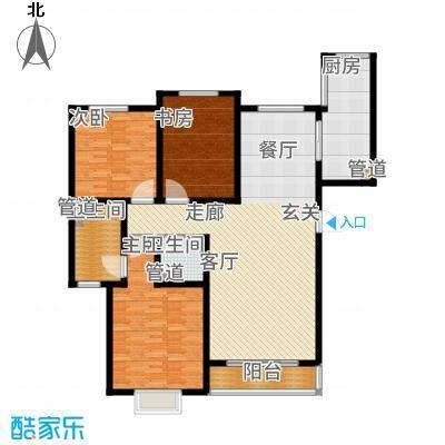 阳光·汾河湾146.77㎡三居户型3室2厅