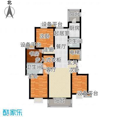 奥龙湾170.22㎡3#1单元户型4室2厅
