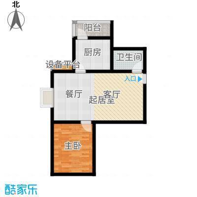 滨东花园二期77.06㎡11#D户型1室1厅