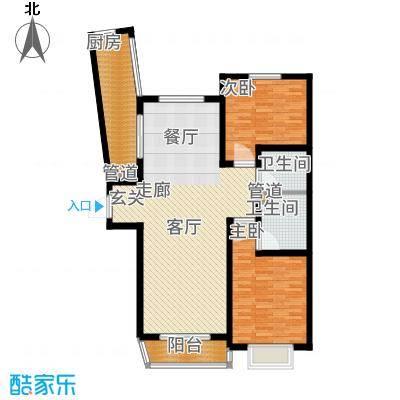 阳光·汾河湾111.60㎡两居户型2室2厅