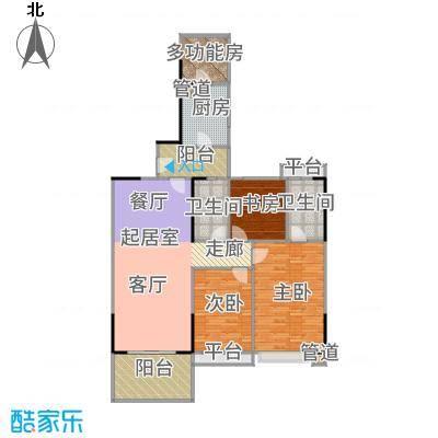 长堤1号119.00㎡129栋04户型3室2厅
