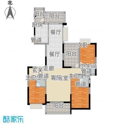 天骄御峰195.00㎡02型12栋1单元3+户型3室2厅