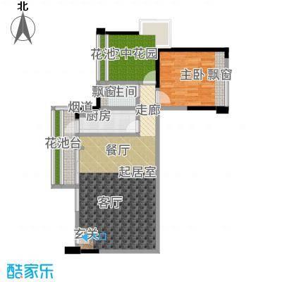五福里83.75㎡奇数层2栋02户型1室2厅