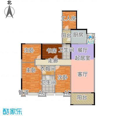 长堤1号153.84㎡125栋013-32层户型5室2厅