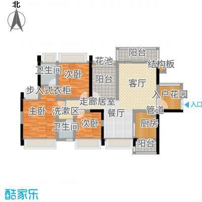 佳兆业东江豪门130.00㎡29栋标准层01+02户型3室2厅