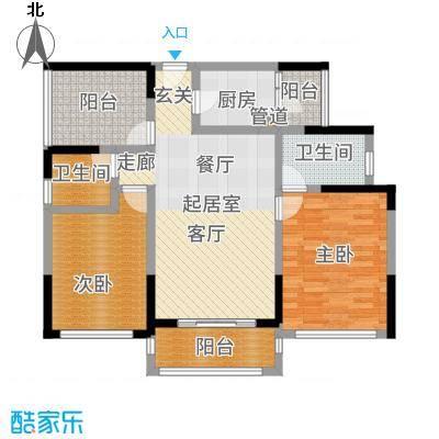 佳兆业东江豪门97.85㎡19栋1-24层01单位户型2室2厅