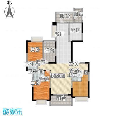 天骄御峰195.00㎡01型12栋2单元3+户型3室2厅