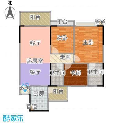 长堤1号97.00㎡129栋01户型3室2厅