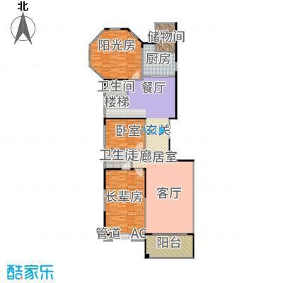 长堤1号310.14㎡123栋01首层户型5室3厅