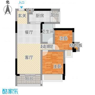 佳兆业东江豪门80.00㎡29栋标准层05/06户型2室2厅