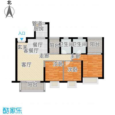 康联汇展中央128.00㎡2栋03、3栋04户型3室2厅