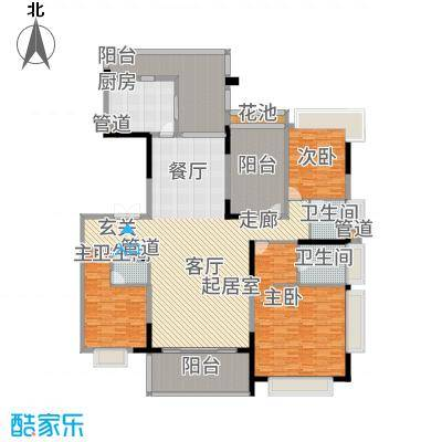 天骄御峰231.00㎡1-3栋2单元023+户型4室2厅