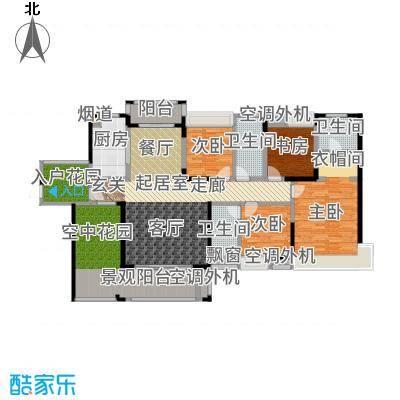 盈拓御江173.91㎡2-4号楼1-2号单位户型4室2厅