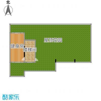 盈拓御江390.35㎡2、4号楼1-2复式屋顶户型