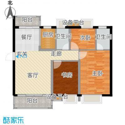 富盈四季华庭91.00㎡3-5栋标准层01户型3室2厅