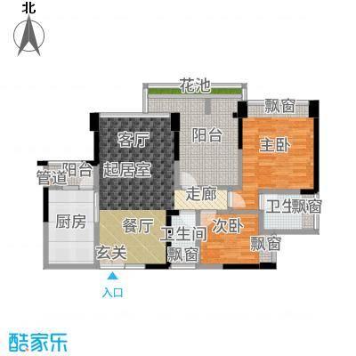 五福里93.00㎡3栋2-27层07户型3室2厅