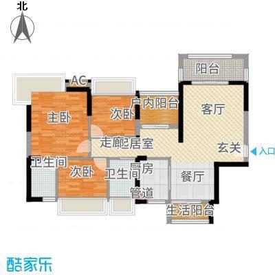 嘉宏公园1号108.00㎡D梧桐香颂户型4室2厅