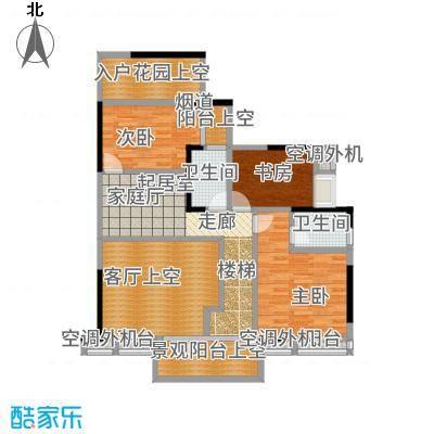 盈拓御江198.69㎡1号楼3、4号复式单位上层户型5室3厅