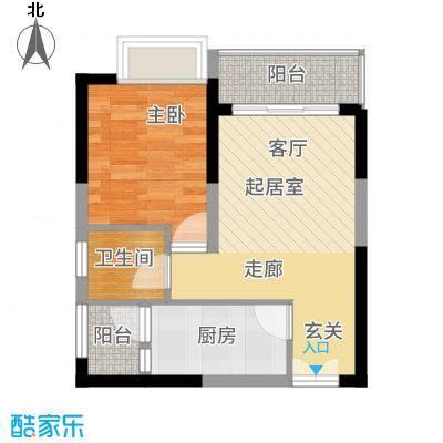 中央豪庭55.00㎡D1户型1室1厅