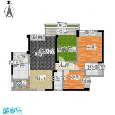 五福里90.00㎡4-5栋23-26层07户型3室2厅