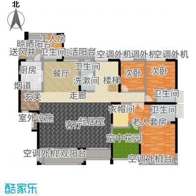 盈拓御江466.27㎡3号楼1、2号复式单位下层户型