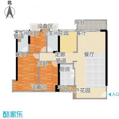 尚峰温莎堡118.00㎡A-1户型3室2厅