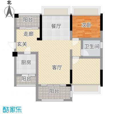 信鸿熙岸花园90.00㎡A+内阳台户型2室2厅