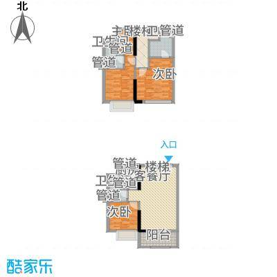 凤雅颂93.90㎡03/041、2栋标准层双套间户型