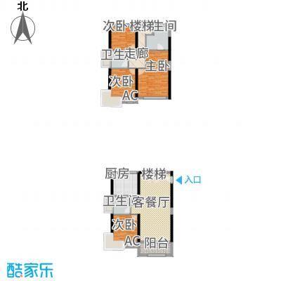 凤雅颂117.94㎡011、2栋标准层双套间户型4室2厅