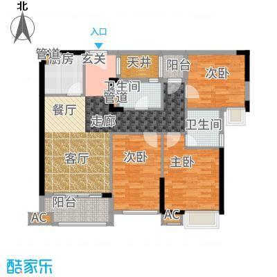 凤雅颂89.00㎡户型3室2厅