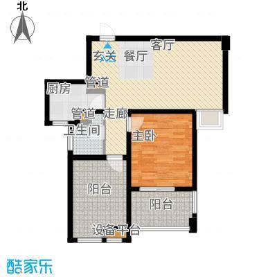 达安上品花园76.00㎡27层国际公馆A1户型1室1厅