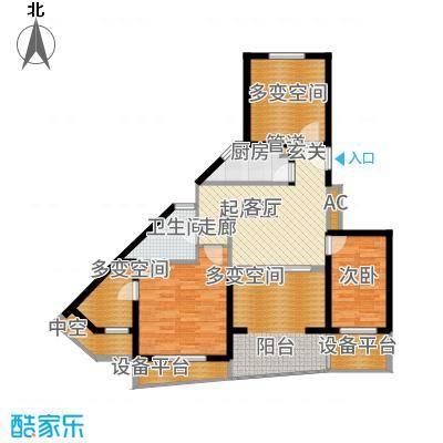 阳光100国际新城92.00㎡户型2室2厅