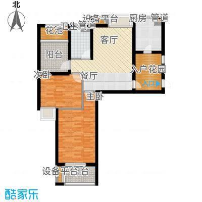 达安上品花园92.00㎡27层国际公馆A3户型2室1厅