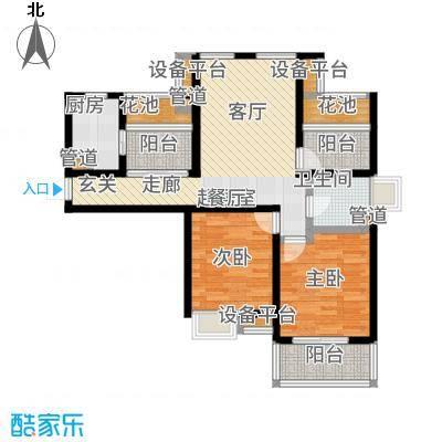 达安上品花园90.00㎡27层国际公馆A4户型2室1厅
