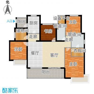 富力十号168.00㎡户型4室2厅
