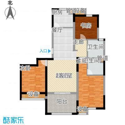 云厦·阳光福邸110.00㎡N户型3室2厅
