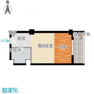 西城荟45.00㎡户型1室1厅