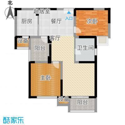 南光·洛龙湾壹号104.00㎡2+户型2室2厅