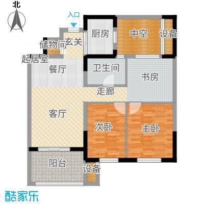 云厦·阳光福邸93.00㎡C户型3室2厅