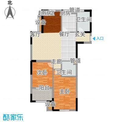 云厦·阳光福邸103.00㎡K户型3室2厅
