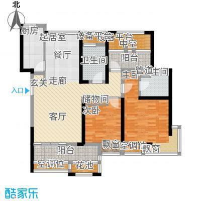 无锡港龙城市商业广场110.00㎡户型2室2厅