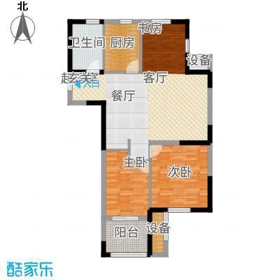 云厦·阳光福邸87.00㎡D户型3室2厅