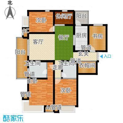 富力十号170.00㎡C区户型5室2厅