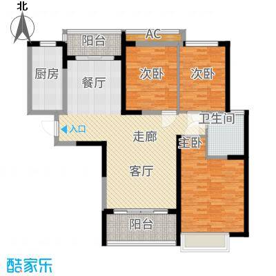 恒大城113.89㎡5#楼01户型3室2厅