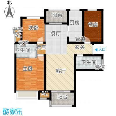 富力十号118.00㎡C区户型3室2厅